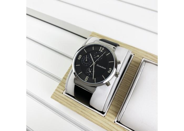 Мужские часы Guardo B01312-1 Black-Silver