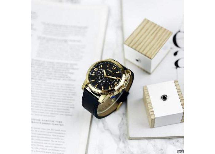 Мужские часы Guardo 011401-4 Black-Gold
