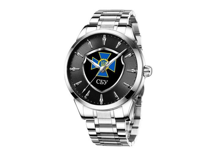 Мужские часы Chronte с логотипом СБУ Silver-Black