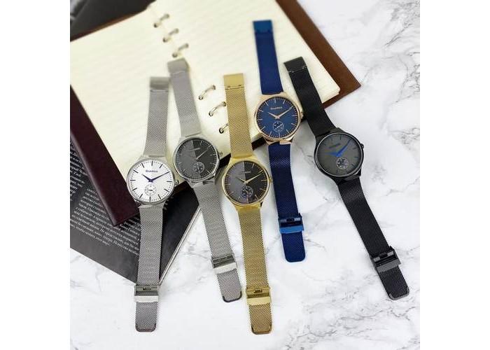 Мужские часы Guardo 012473-(2)-2 Silver-White-Blue