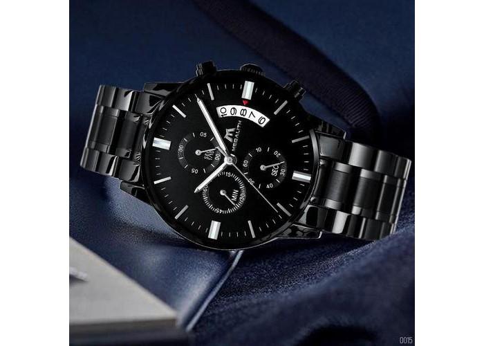 Мужские часы Megalith 0105M Black-Silver