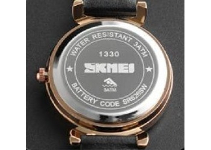 Женские часы Skmei 1330 Black-Cuprum-White