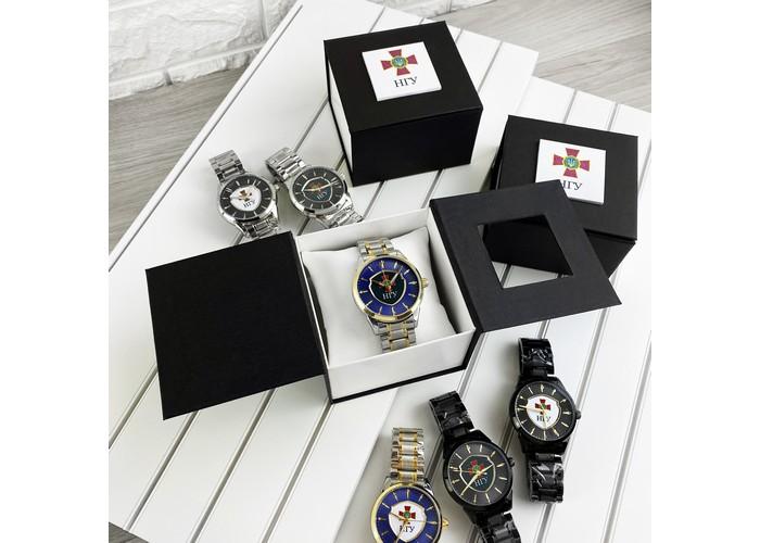 Мужские часы Chronte с логотипом НГУ Black-Gold-White