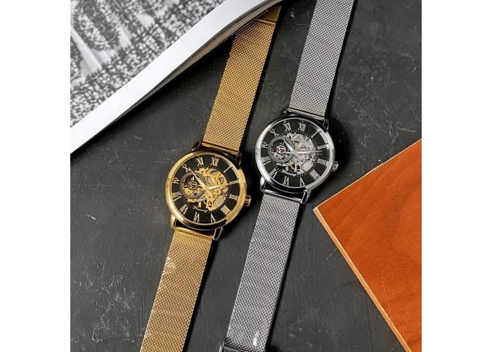 Мужские часы Forsining 1040 Silver-Black