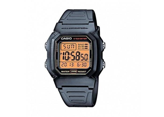 Мужские часы Casio W-800HG-9AVEF Black-Orange