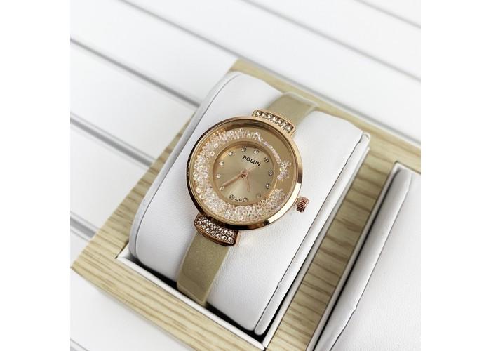 Женские часы Bolun 5533L Beige-Cuprum