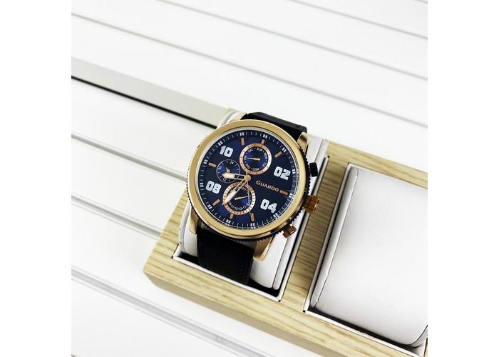 Мужские часы Guardo 011097-4 Blue-Cuprum