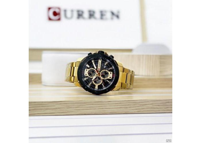 Мужские часы Curren 8336 Gold-Black