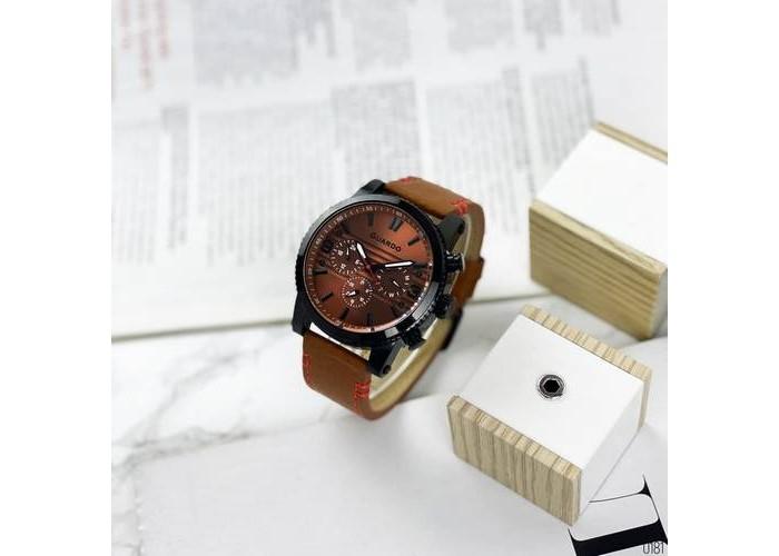 Мужские часы Guardo 011401-5 Brown-Black
