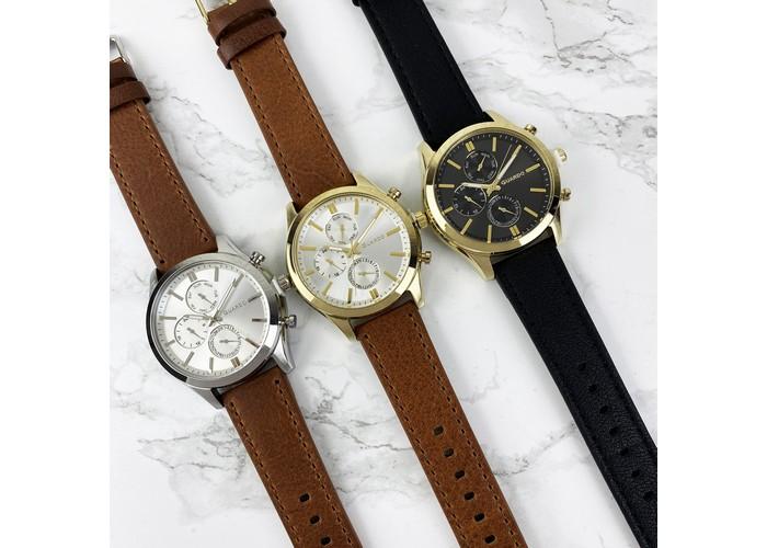 Мужские часы Guardo 011648-2 Brown-Silver-White