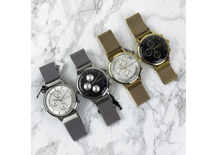Мужские часы Guardo 012015-5 Gold-White