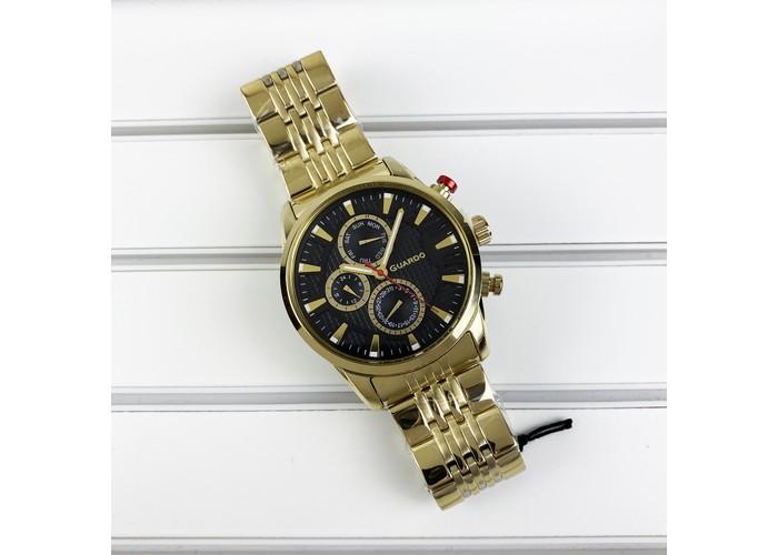 Мужские часы Guardo 011653-4 Gold-Brown