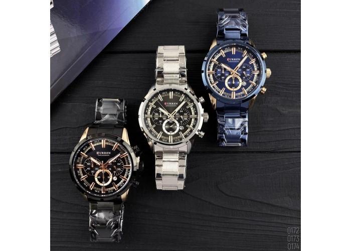 Мужские часы Curren 8355 Black -Cuprum