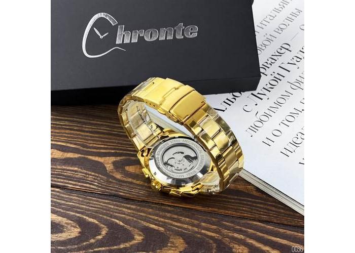 Мужские часы Chronte S899 Gold-White
