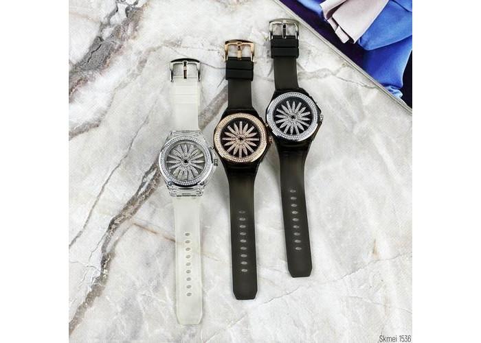 Женские часы Skmei 1536 White-Silver