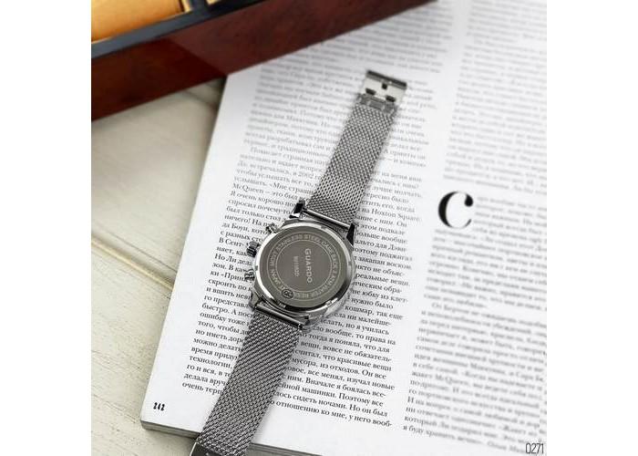 Мужские часы Guardo B01352(2)-1 Silver-Black