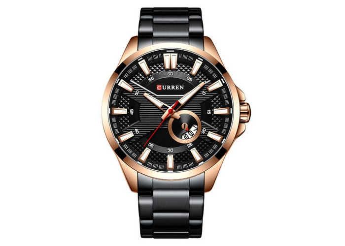 Мужские часы Curren 8372 Black-Cuprum