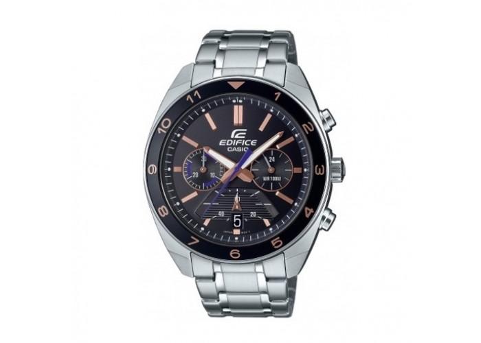 Мужские часы Casio EFV-590D-1AV Silver-Black