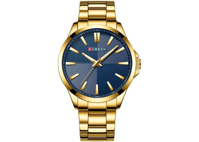 Мужские часы Curren 8322 Gold-Blue