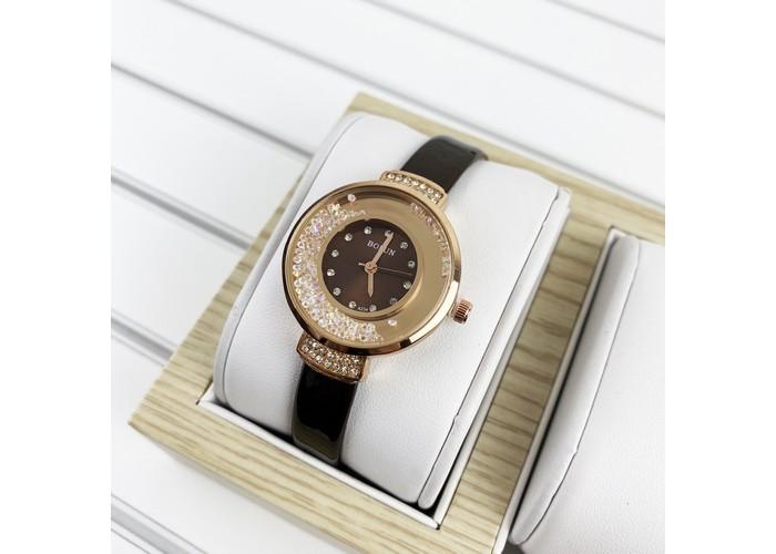 Женские часы Bolun 5533L Dark Brown-Cuprum