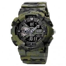 Мужские часы Skmei 1688 Green-Black Military