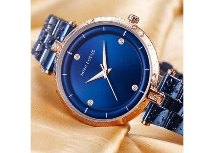 Женские часы Mini Focus MF0120L Blue-Cuprum Diamonds