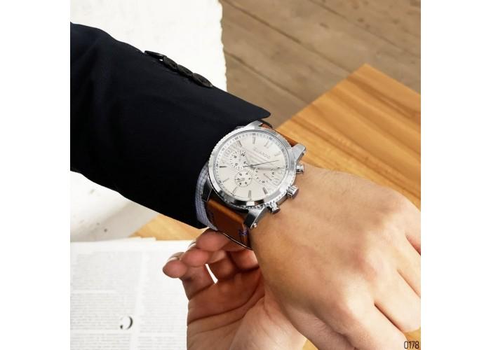Мужские часы Guardo 011401-1 Brown-Silver