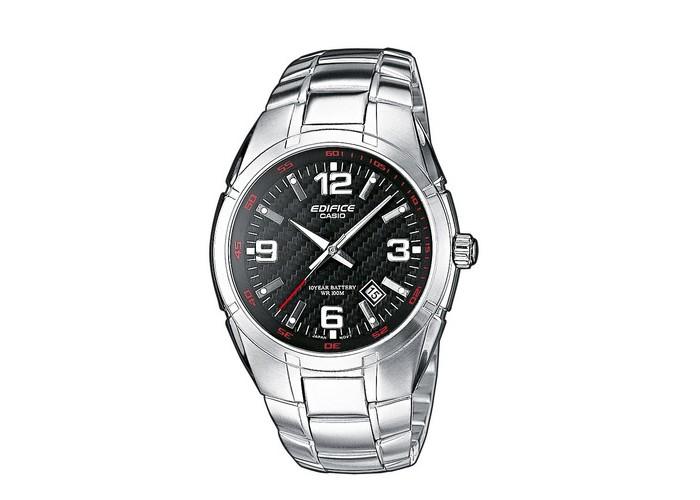Мужские часы Casio EF-125D-1AVEG Silver-Black