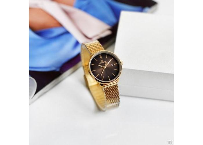 Женские часы Naviforce NF3012L Gold-Black