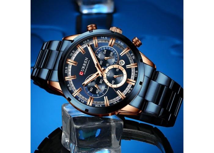 Мужские часы Curren 8355 Blue-Cuprum