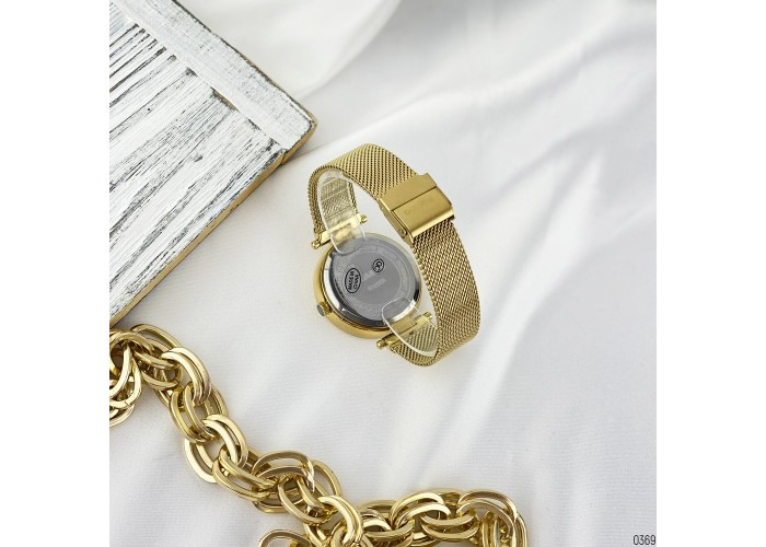 Женские часы Guardo 11405-4 Gold-White