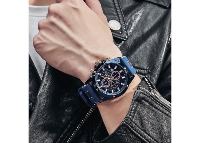 Мужские часы Megalith 0140M Blue-Cuprum