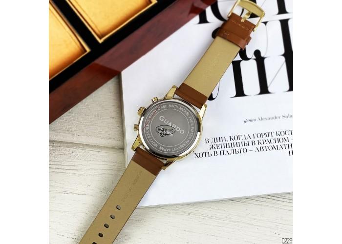 Мужские часы Guardo 012287-5 Brown-Gold-White