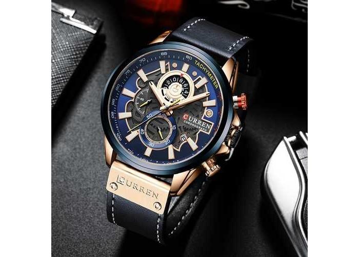 Мужские часы Curren 8380 Blue-Cuprum