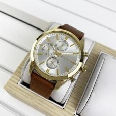 Мужские часы Guardo 011648-5 Brown-Gold-White