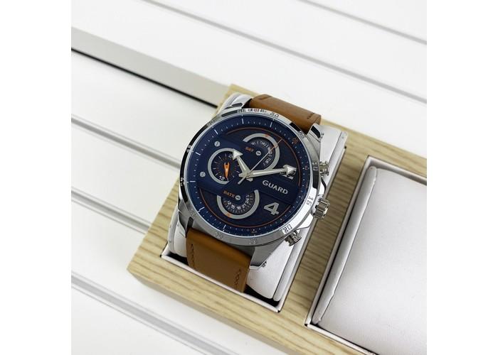 Мужские часы Guardo B01318-3 Brown-Silver-Blue