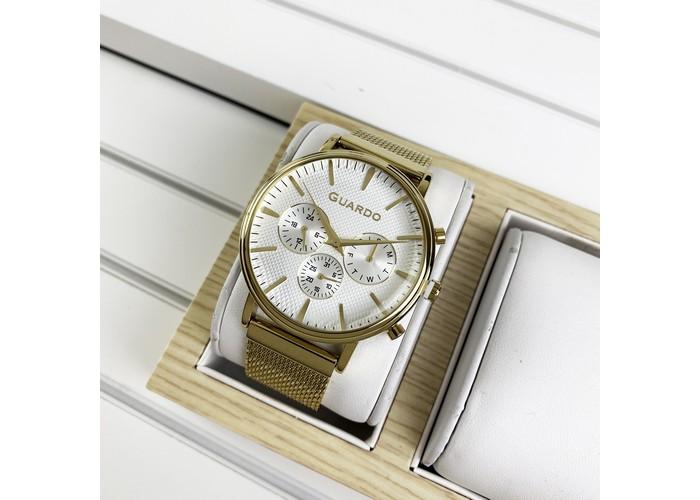 Мужские часы Guardo 012445-4 Gold-White