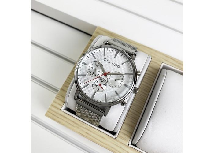 Мужские часы Guardo 012445-2 Silver-White