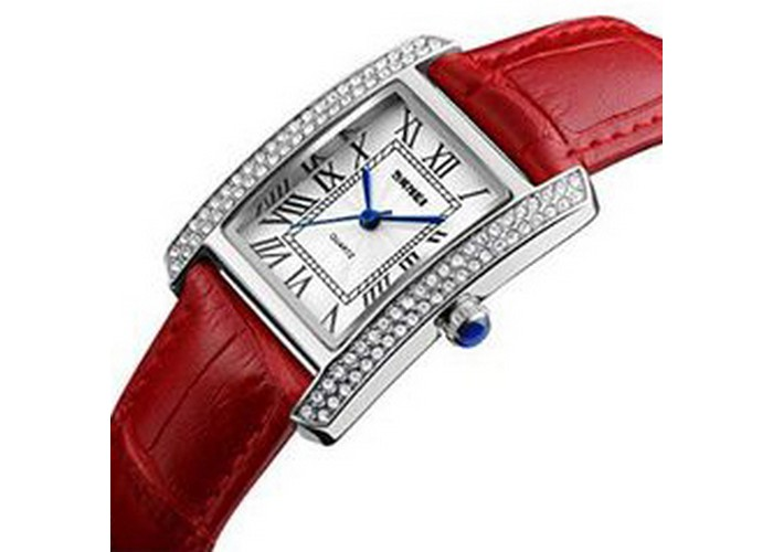 Женские часы Skmei 1281 Red-Silver