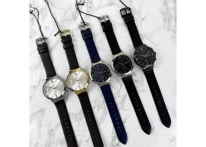 Мужские часы Guardo B01312-4 Dark Brown-Gold-White