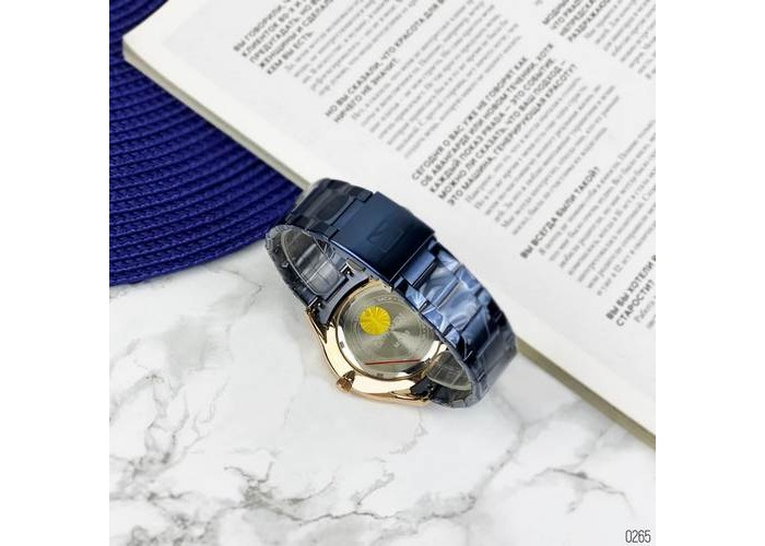 Мужские часы Curren 8383 Blue-Gold