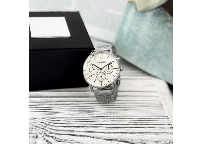 Мужские часы Guardo B01116-2 Silver-White