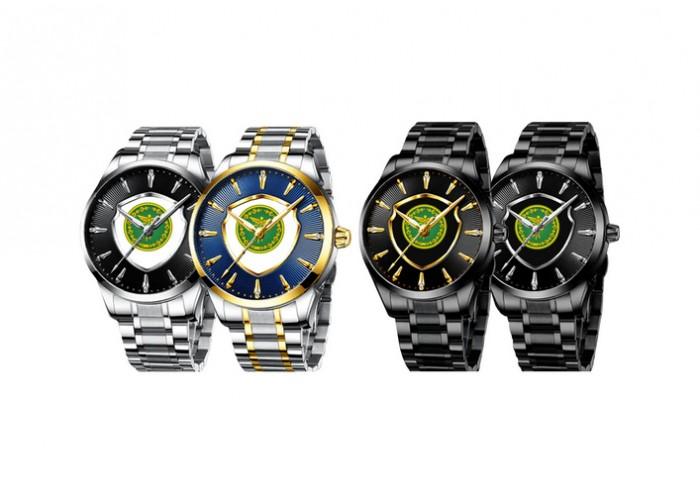 Мужские часы Chronte с логотипом Налоговая Служба Silver-Black