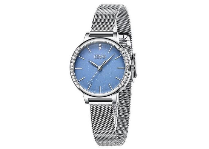 Женские часы Chronte 8115C Silver-Blue