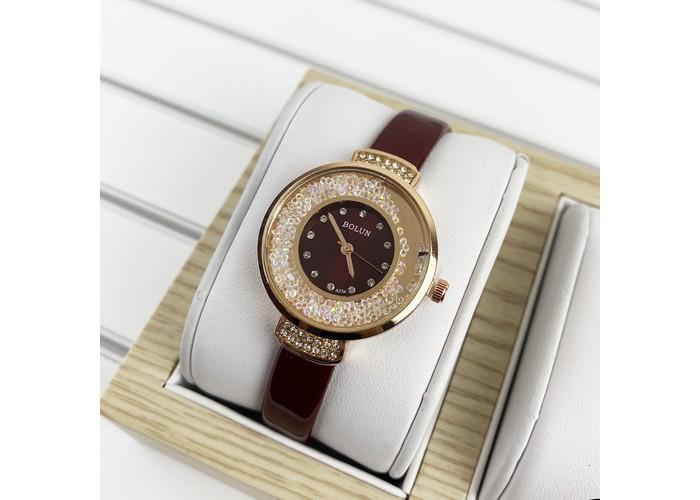 Женские часы Bolun 5533L Red-Cuprum