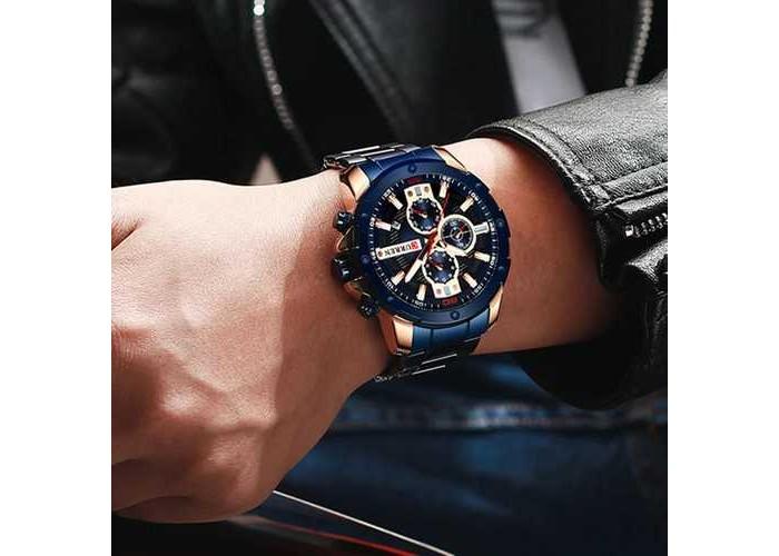 Мужские часы Curren 8336 Blue-Cuprum