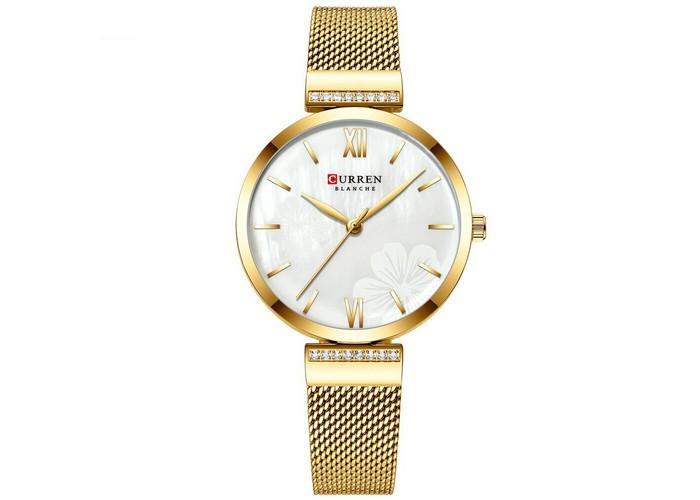 Женские часы Curren 9067 Gold-White