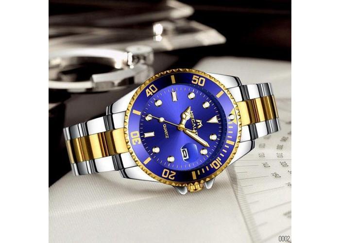 Мужские часы Megalith 0037M Silver-Gold-Blue