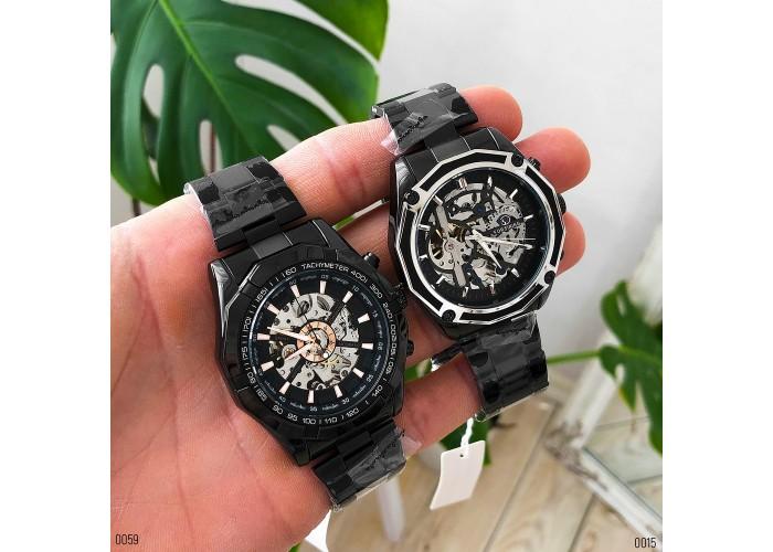 Мужские часы Forsining 8130 Black-Silver