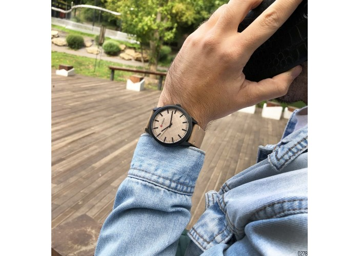 Мужские часы Curren 8386 Light Brown-Grey